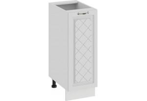Шкаф напольный с одной дверью «Бьянка» (Белый/Дуб белый)