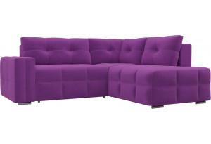 Угловой диван Леос Фиолетовый (Микровельвет)