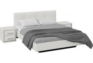 Спальный гарнитур «Элис» стандартный без шкафа (Белый)