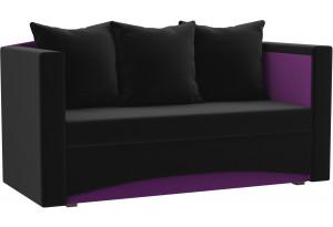 Кушетка Чарли черный/фиолетовый (Микровельвет)