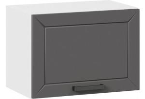 Шкаф навесной c одной откидной дверью «Лорас» (Белый/Холст вулкан)