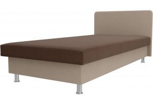 Кровать Мальта Коричневый/Бежевый (Рогожка)
