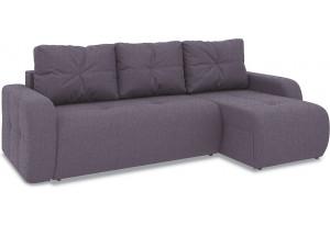 Диван угловой правый «Томас Т1» (Levis 68 (рогожка) Темно - фиолетовый)