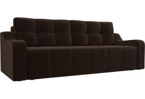 Прямой диван Итон Коричневый (Микровельвет)