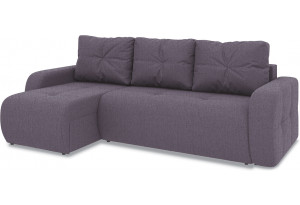 Диван угловой левый «Томас Т1» (Levis 68 (рогожка) Темно - фиолетовый)