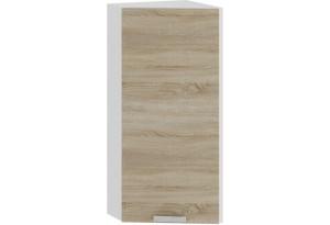 Шкаф навесной торцевой «Гранита» (Белый/Дуб сонома)