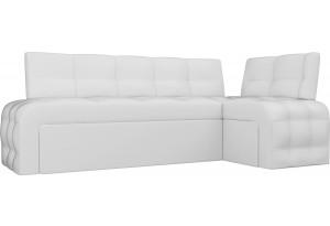 Кухонный угловой диван Люксор Белый (Экокожа)