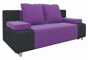 Диван прямой Шарль Фиолетовый/Черный (Микровельвет)