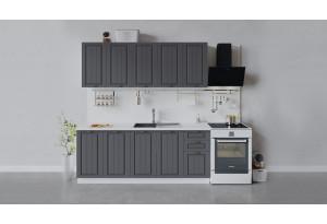 Кухонный гарнитур «Лина» длиной 200 см (Белый/Графит)