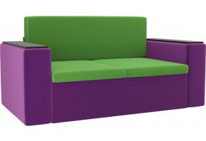 Детский диван Арси зеленый/фиолетовый (Микровельвет)