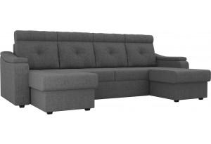 П-образный диван Джастин Серый (Рогожка)