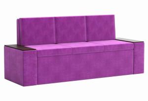 Кухонный прямой диван Лина Фиолетовый (Микровельвет)