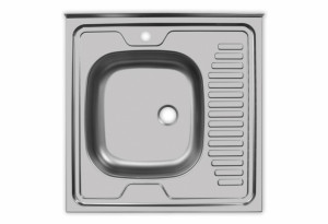 Мойка Юкинокс Стандарт STD600.600 - 5С ОL накладная левая