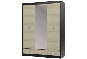 Шкаф с зеркалом 3-х дверный с 3-мя ящиками Ксено