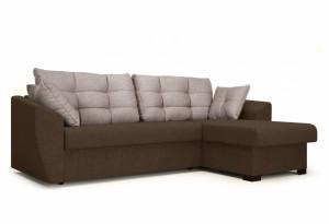 Угловой диван Кокос коричневый