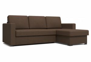 Угловой диван Джессика коричневый