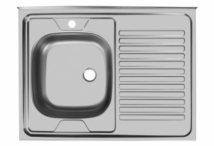 Мойка Юкинокс Стандарт STD800.600 - 5С ОL накладная левая