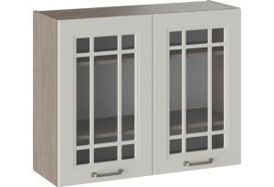Шкаф навесной со стеклом ОДРИ (Бежевый шелк)