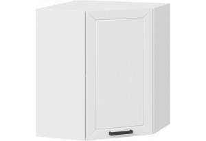 Шкаф навесной угловой «Лорас» (Белый/Холст белый)
