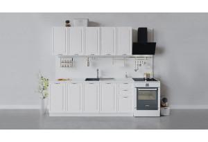 Кухонный гарнитур «Бьянка» длиной 200 см (Белый/Дуб белый)