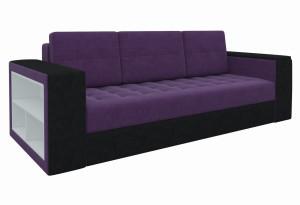 Диван прямой Пазолини Фиолетовый/Черный (Микровельвет)