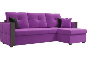Угловой диван Валенсия Фиолетовый (Микровельвет)