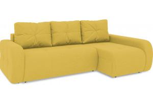 Диван угловой правый «Томас Т2» (Neo 08 (рогожка) желтый)