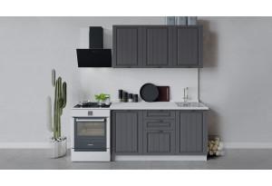 Кухонный гарнитур «Лина» длиной 150 см (Белый/Графит)