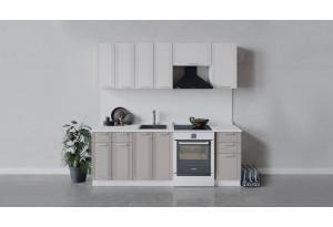 Кухонный гарнитур «Ольга» длиной 220 см (Белый/Белый/Кремовый)