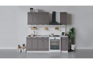 Кухонный гарнитур «Долорес» длиной 160 см (Белый/Муссон)