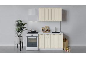 Кухонный гарнитур «Лина» длиной 120 см (Белый/Крем)
