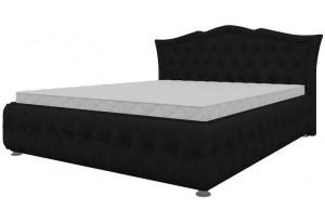 Интерьерная кровать Герда Черный (Микровельвет)
