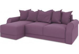Диван угловой левый «Люксор Т1» (Kolibri Violet (велюр) фиолетовый)