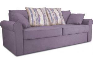 Диван «Шерри» Neo 09 (рогожка) фиолетовый , подушки Tiffani vanilla sky (шинил) ванильное небо