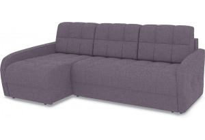 Диван угловой левый «Аспен Slim Т2» (Levis 68 (рогожка) Темно - фиолетовый)