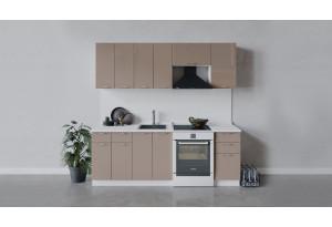 Кухонный гарнитур «Весна» длиной 220 см (Белый/Кофе с молоком)