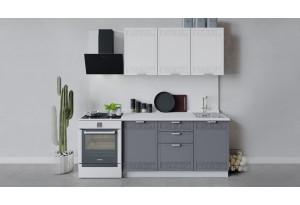 Кухонный гарнитур «Долорес» длиной 150 см (Белый/Сноу/Титан)