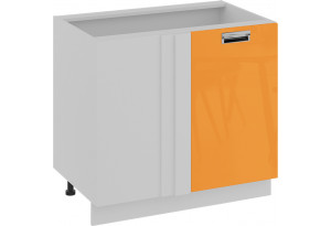 Шкаф напольный с планками для формирования угла (правый) (БЬЮТИ (Оранж))