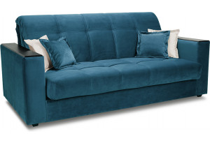 Диван «Орион Т1» (145х200) Beauty 07 (велюр) синий