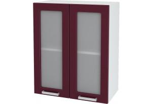 Ксения Навесной шкаф 600 мм, с дверцами и стеклом