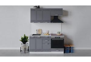 Кухонный гарнитур «Долорес» длиной 160 см со шкафом НБ (Белый/Титан)