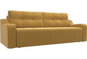 Прямой диван Итон Желтый (Микровельвет)