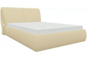 Интерьерная кровать Принцесса Бежевый (Экокожа)