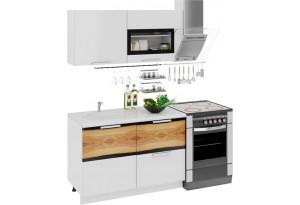Кухонный гарнитур длиной - 180 см Фэнтези (Белый универс)/(Вуд)