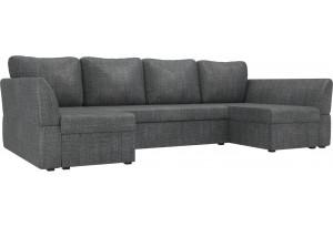 П-образный диван Гесен Серый (Рогожка)