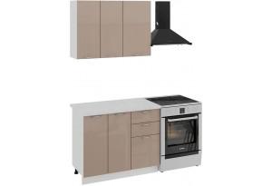 Кухонный гарнитур «Весна» стандартный набор (Белый/Кофе с молоком)