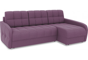 Диван угловой правый «Аспен Slim Т2» (Kolibri Violet (велюр) фиолетовый)