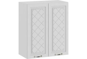 Шкаф навесной c двумя дверями «Бьянка» (Белый/Дуб белый)