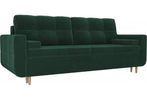 Прямой диван Кэдмон Зеленый (Велюр)
