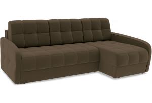 Диван угловой правый «Аспен Slim Т2» (Beauty 04 (велюр) коричневый)